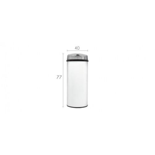 poubelle automatique ronde blanche achetez nos poubelles rondes rdvdeco. Black Bedroom Furniture Sets. Home Design Ideas