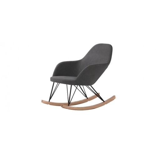 Rocking chair malibu gris commandez nos fauteuils for Rocking chair exterieur