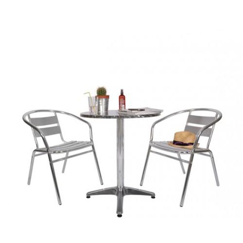 Emejing Salon De Jardin En Aluminium Style Bistrot Ideas - ansomone ...