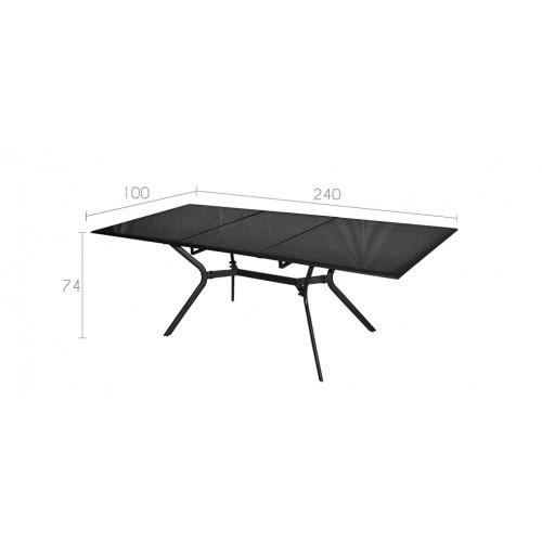 Table de jardin 240 cm wallis grise achetez nos tables for Table grise 6 personnes