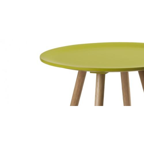 table basse art ronde jaune