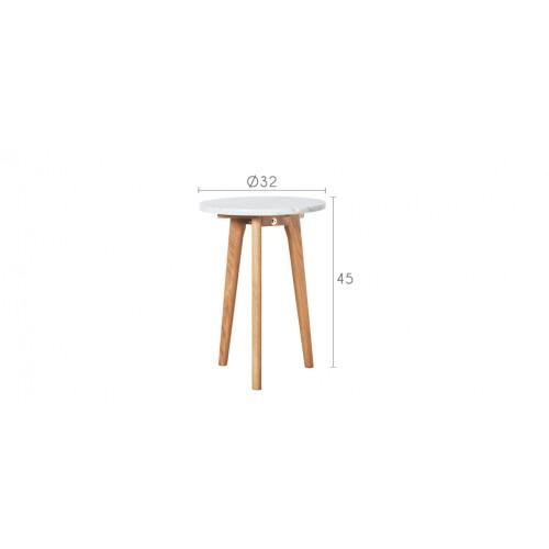 table basse blanche bois marbre pas cher
