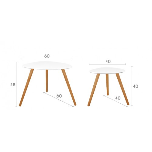 table basse wald blanche lot de 2 achetez nos tables basses wald blanches design lot de 2. Black Bedroom Furniture Sets. Home Design Ideas