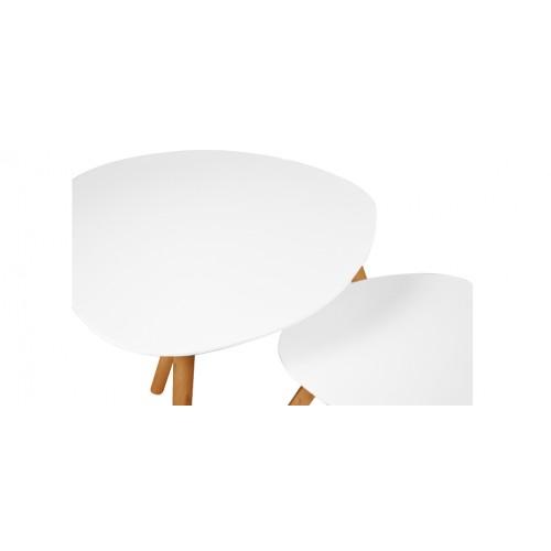 Table basse wald blanche lot de 2 achetez nos tables - Table basse petit prix ...