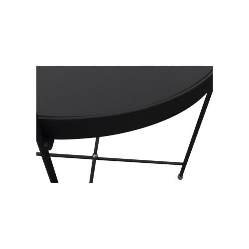 Table basse en m tal valdo noire choisissez les tables - Table basse petit prix ...
