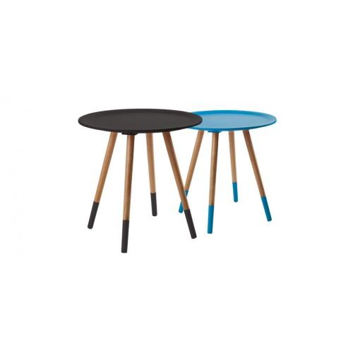 table basse ronde noire pas cher
