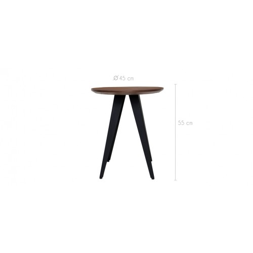 Table basse ronde walnut 45 cm d couvrez nos tables basses rondes walnut 45 cm rdv d co - Table basse ronde pas chere ...