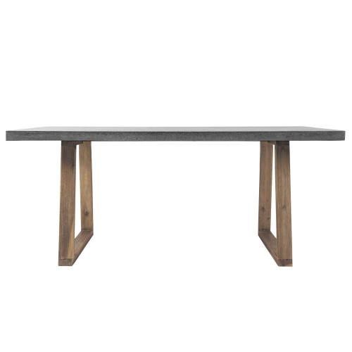 table rectangulaire 180cm bois lavastone