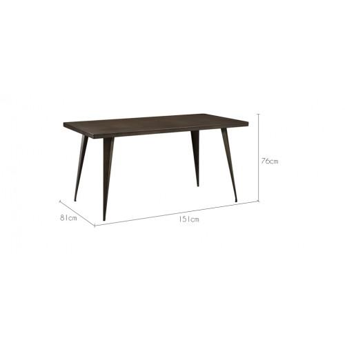 table repas rectangulaire design