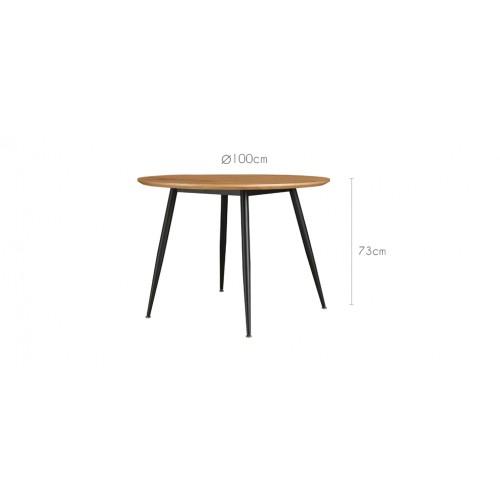 table ronde oulu 100 cm bois clair achetez nos tables rondes oulu 100 cm bois clair rdv d co. Black Bedroom Furniture Sets. Home Design Ideas