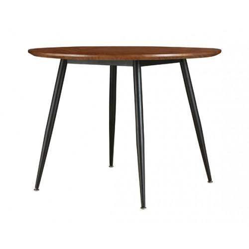 table ronde oulu 100 cm bois fonce