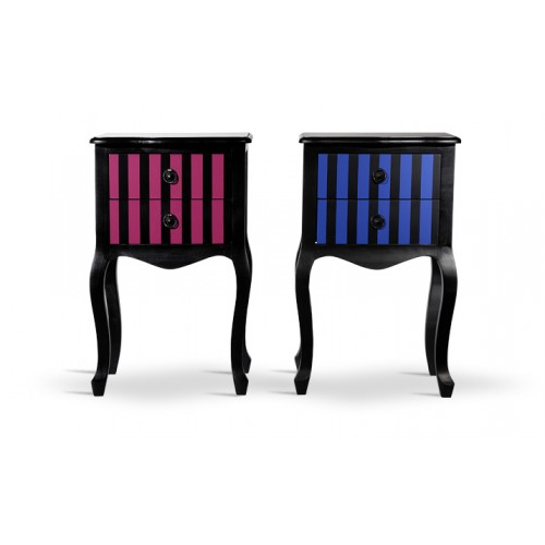 chevet baroque fushia achat table de nuit tiroir rose. Black Bedroom Furniture Sets. Home Design Ideas