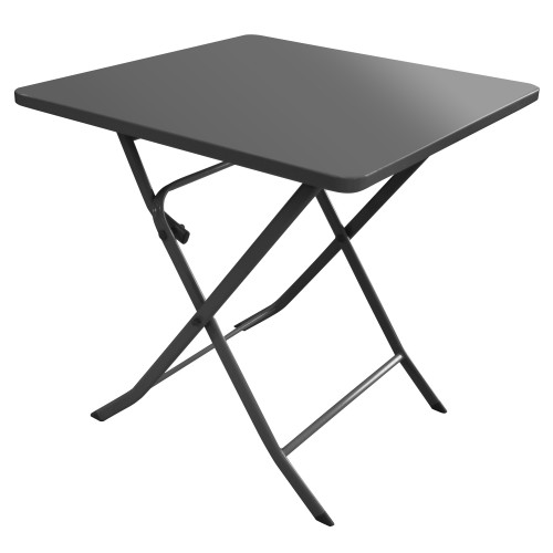 Table de jardin Mérida gris anthracite 70 cm : achetez nos tables de ...