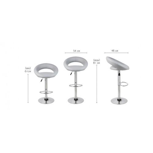tabouret de bar twist gris lot de 2 profitez de nos tabourets de bar twist gris lot de 2. Black Bedroom Furniture Sets. Home Design Ideas