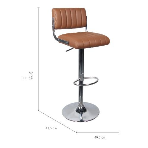 Chaise de bar Houston marron : commandez nos chaises de bar ...