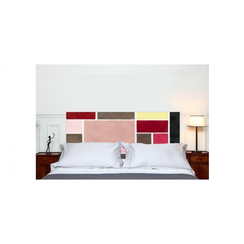 t te de lit poudr es rouge petit mod le achetez nos t tes de lit poudr es rouges petit. Black Bedroom Furniture Sets. Home Design Ideas