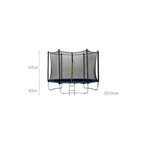 trampoline 244 cm avec filet de protection