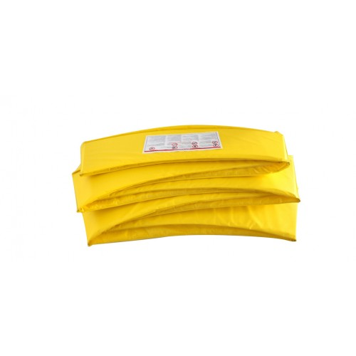 trampoline jaune avec filet de protection pas cher