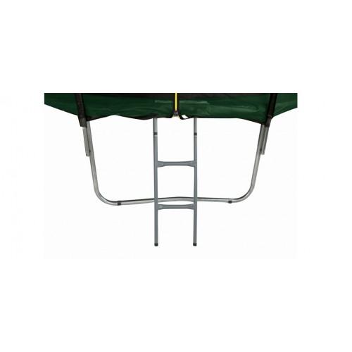 trampoline vert filet et echelle pas cher