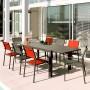 acheter table rectangulaire aluminnium