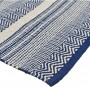 acheter tapis ethnique bleu et blanc
