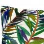 coussin carre imprime feuillages colores