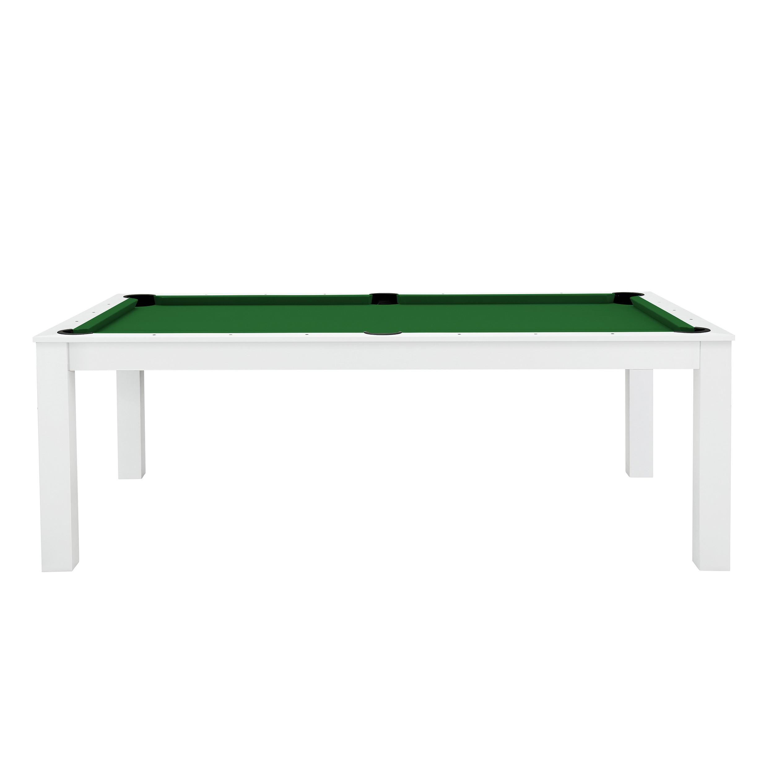billard table convertible blanc tapis vert previous - Billard Table Convertible