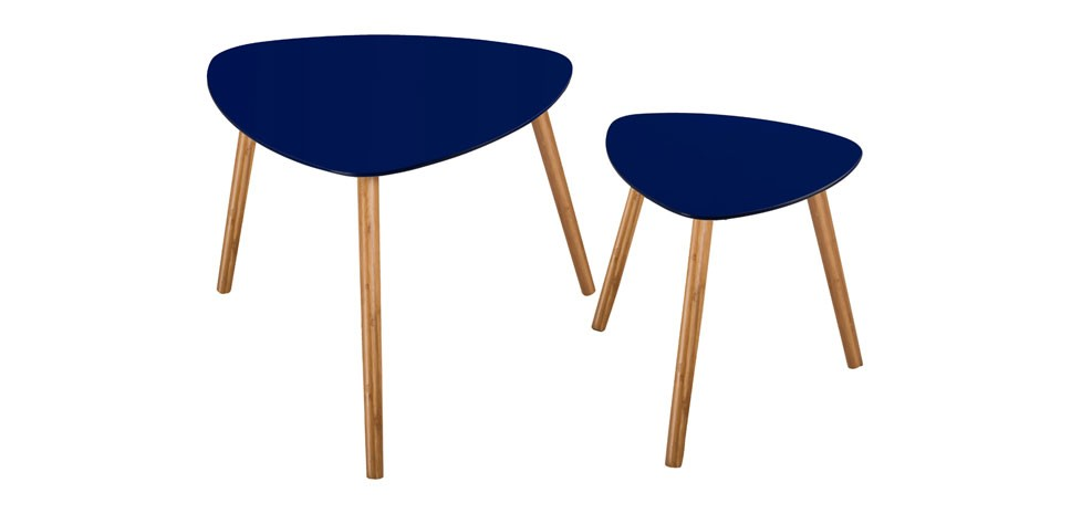 table basse scandinave bleu fonc lot de 2 achetez nos tables basses scandinaves bleu fonc. Black Bedroom Furniture Sets. Home Design Ideas