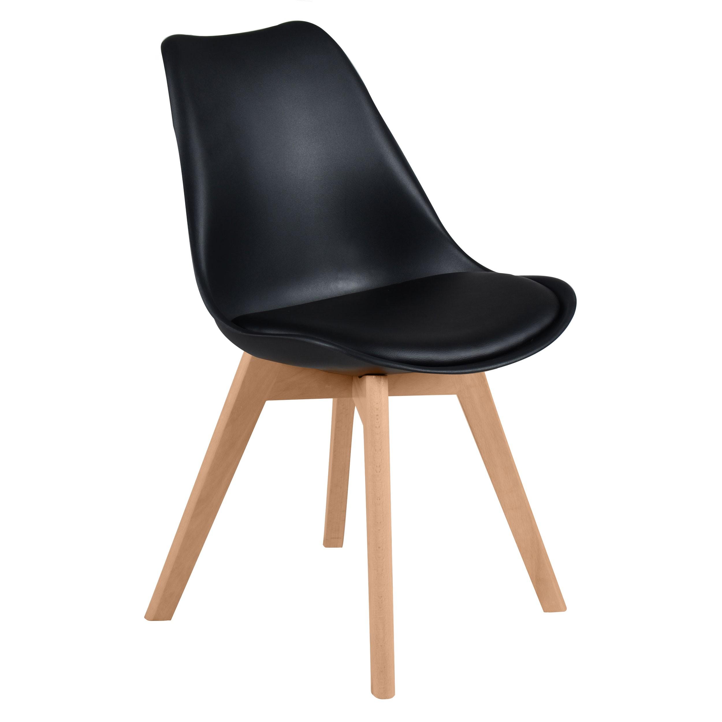 Chaise skandi noire lot de 2 achetez nos chaises - Lot de chaises noires ...