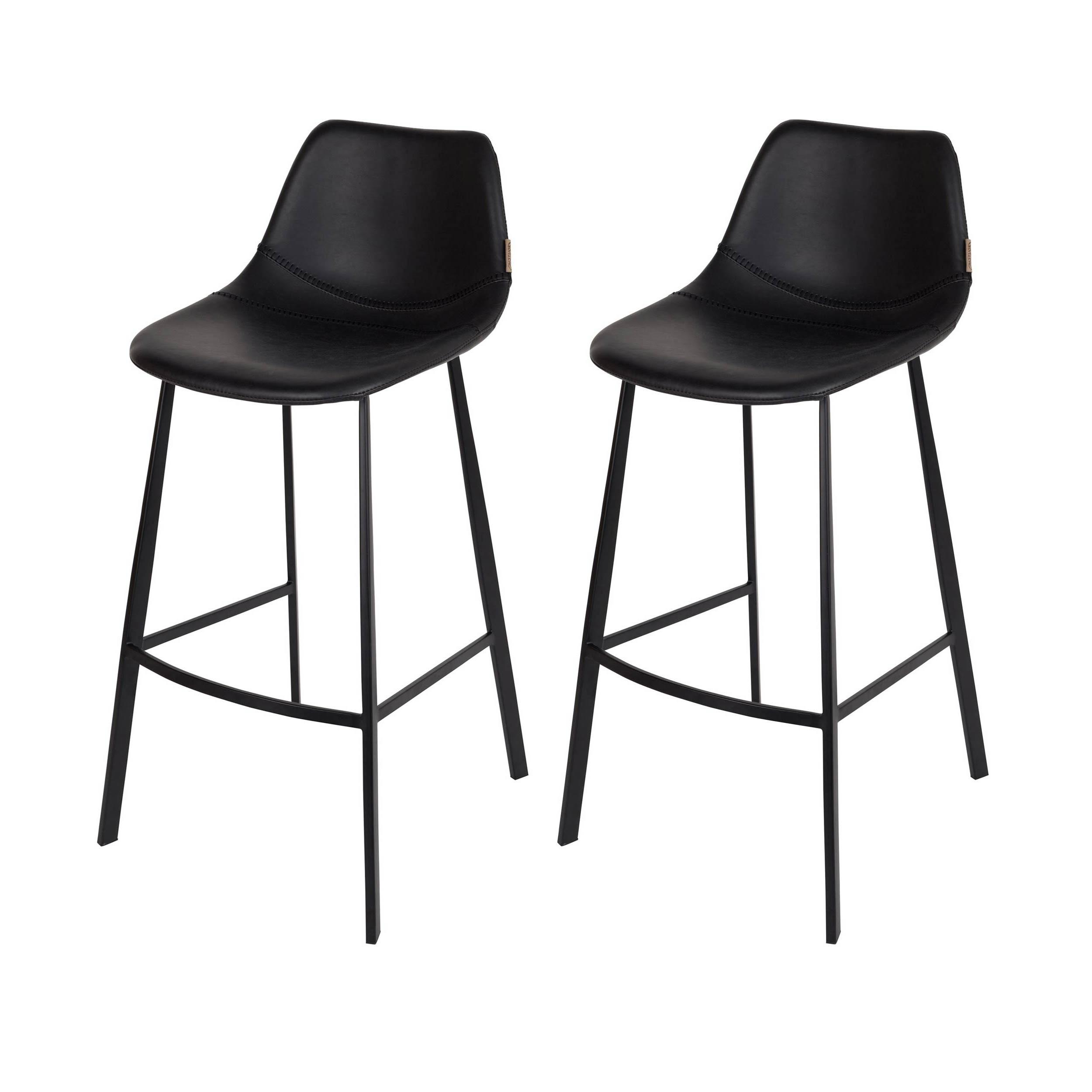 tabouret de bar franky noir commandez nos tabourets de. Black Bedroom Furniture Sets. Home Design Ideas