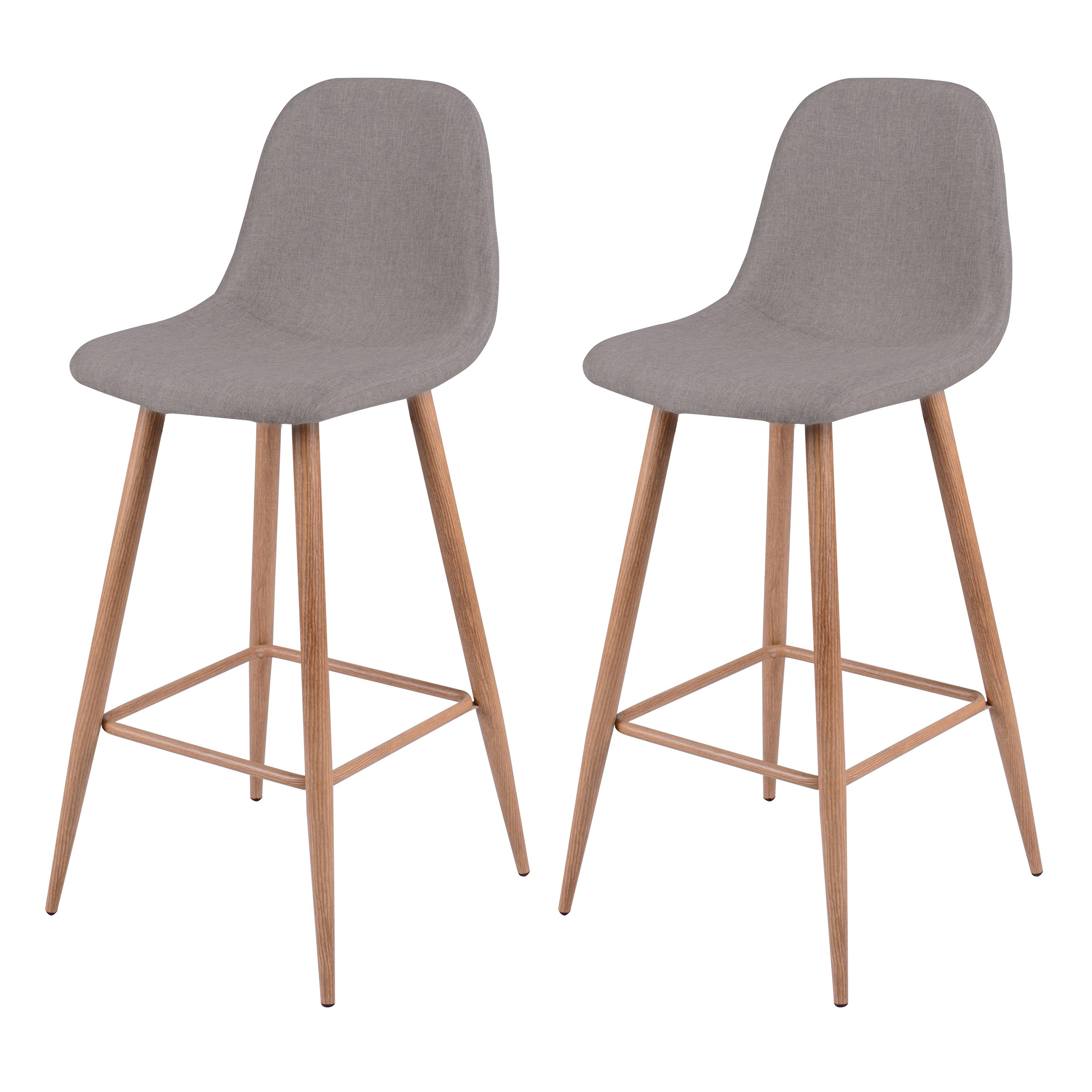 Acheter Chaise De Bar Taupe Tissu