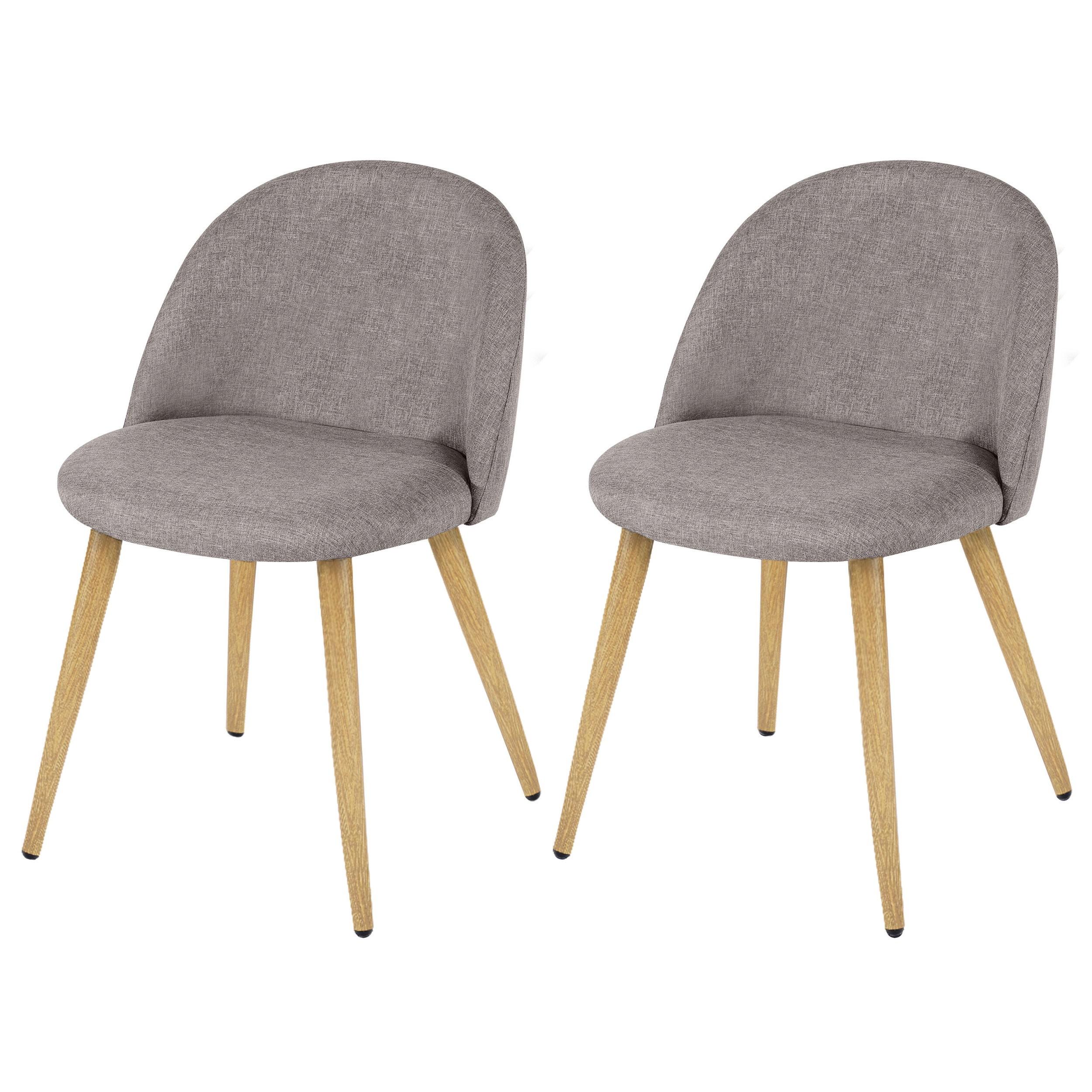Chaise cozy taupe lot de 2 choisissez nos chaises cozy for Acheter chaise design