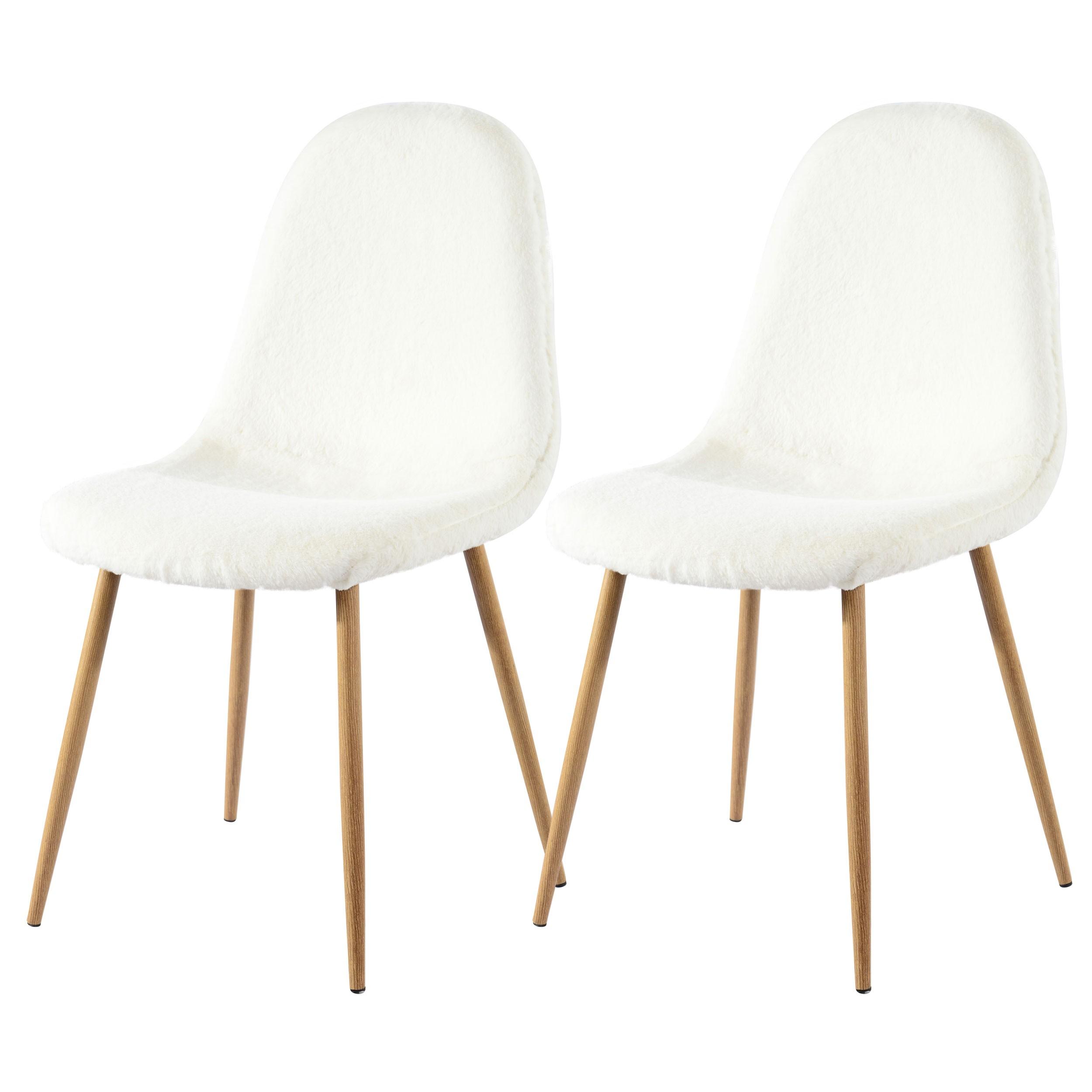 Acheter Chaise Lot De 2 Blanche