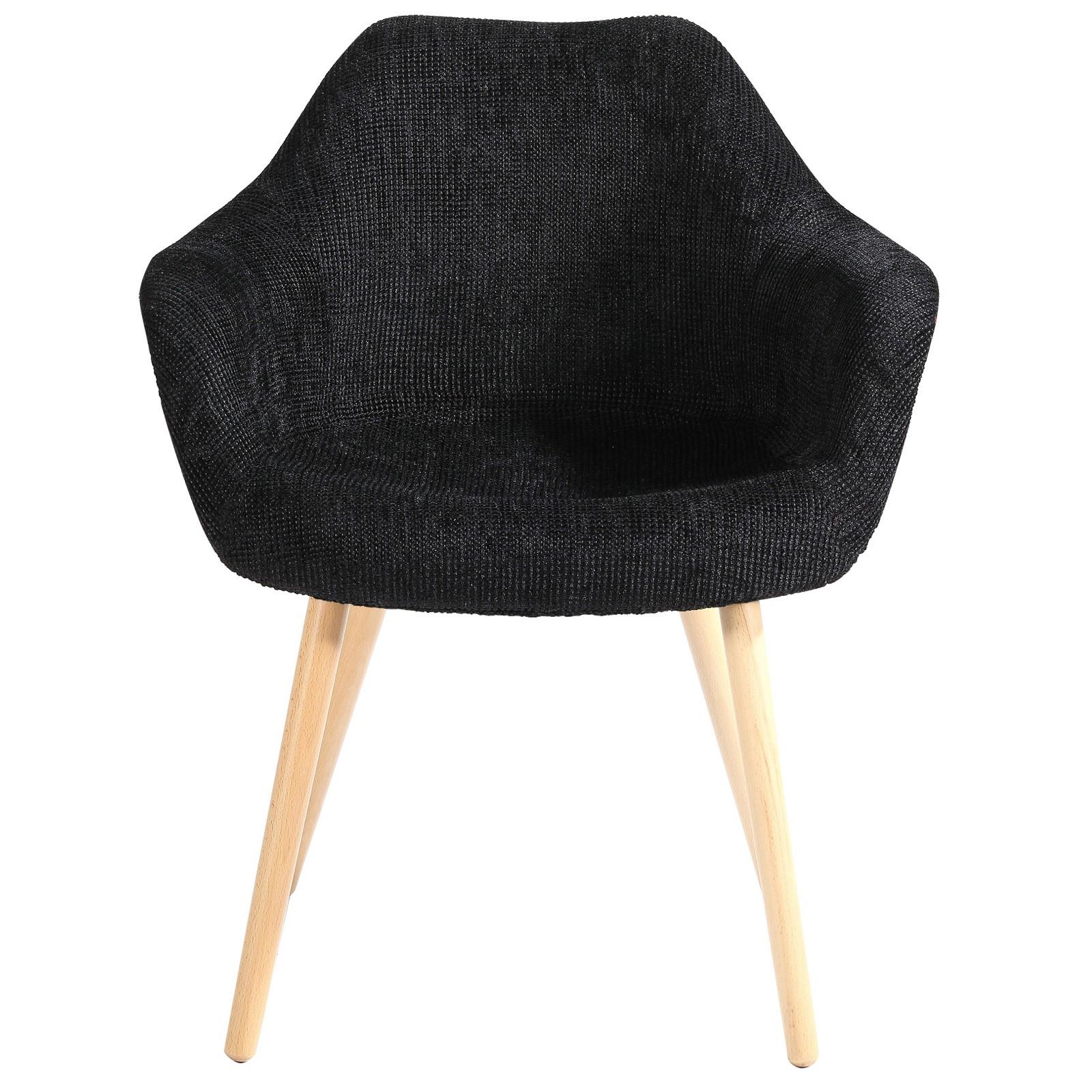 Chaise anssen noire achetez nos chaises anssen noires for Chaise design petit prix