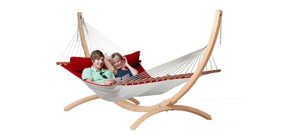 hamac double rouge testez le confort de nos hamacs doubles rdvd co. Black Bedroom Furniture Sets. Home Design Ideas