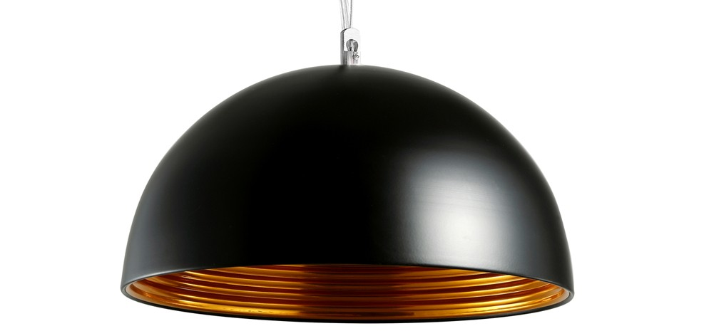 Suspension noire for Solde luminaire suspension