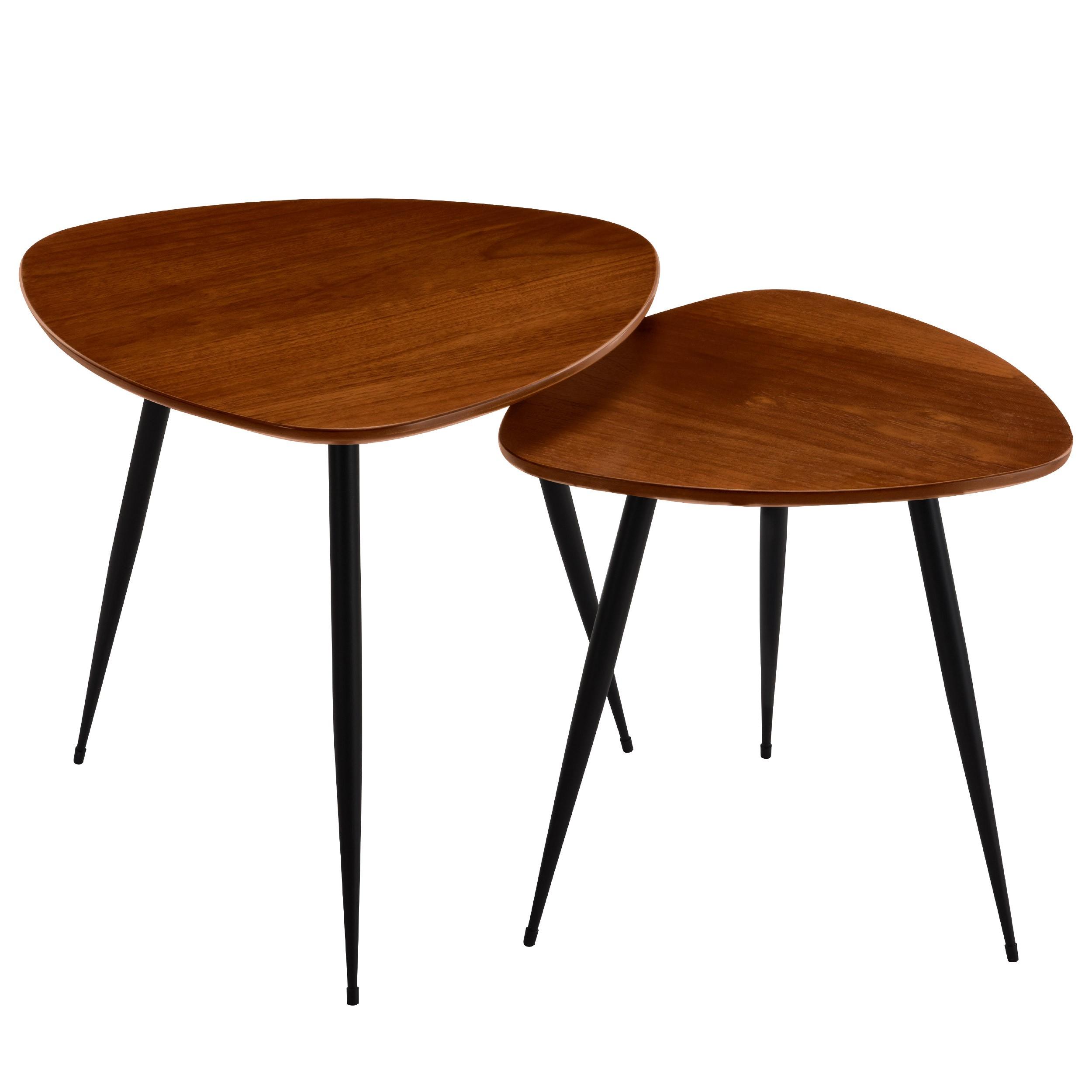 Tables Basses Scandinaves En Bois Quercus Lot De 2 D Couvrez Les