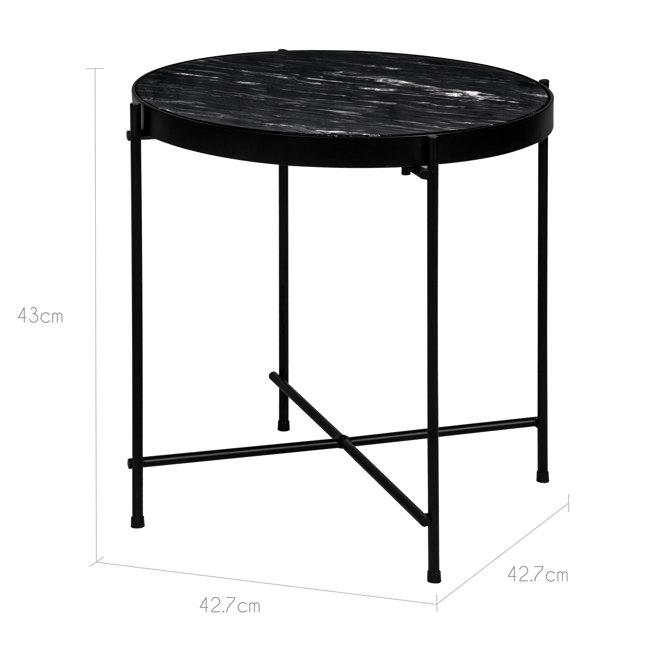 table basse ronde thilda large marbre noire d couvrez les tables basses rondes thilda larges. Black Bedroom Furniture Sets. Home Design Ideas