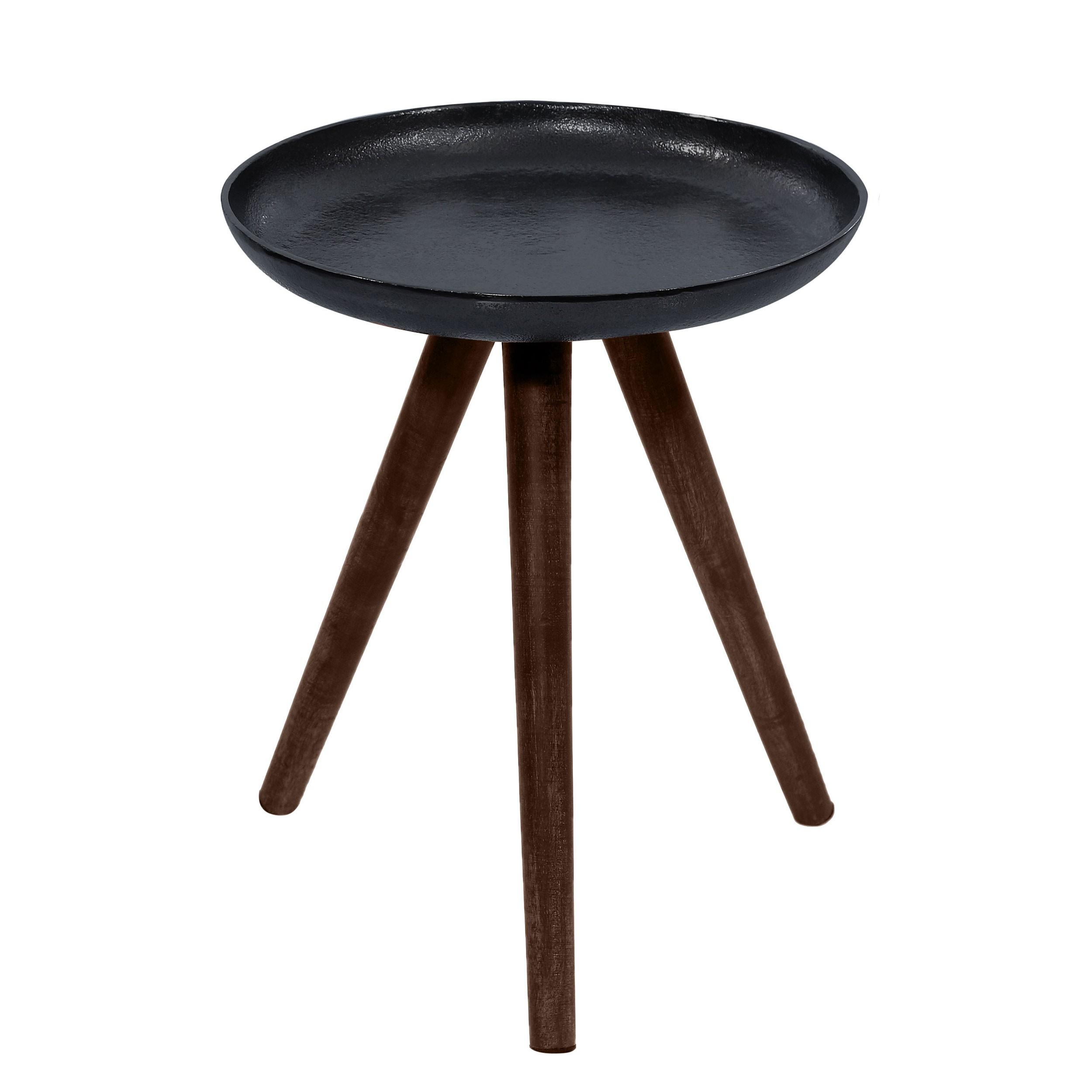 Table basse ronde toluk noire achetez les tables basses for Acheter table ronde