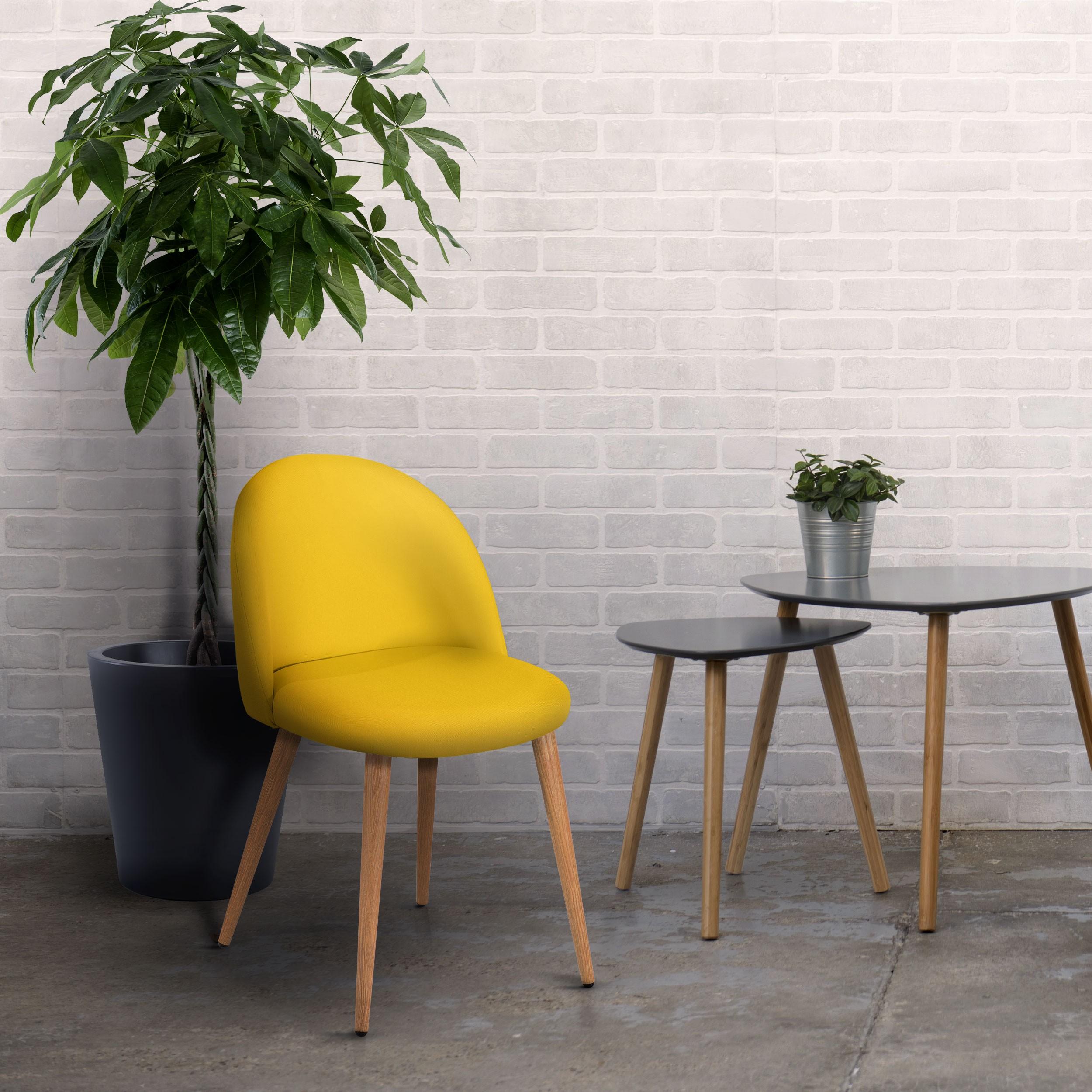 chaise cozy jaune lot de 2 achetez nos chaises cozy jaunes lot de 2 rdv d co. Black Bedroom Furniture Sets. Home Design Ideas