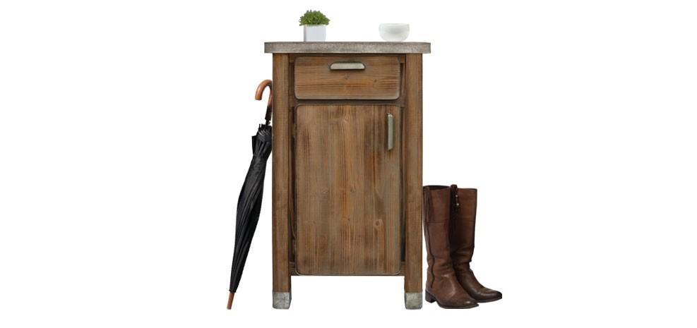 meuble entree bois metal petit prix - Meuble D Entree Bois