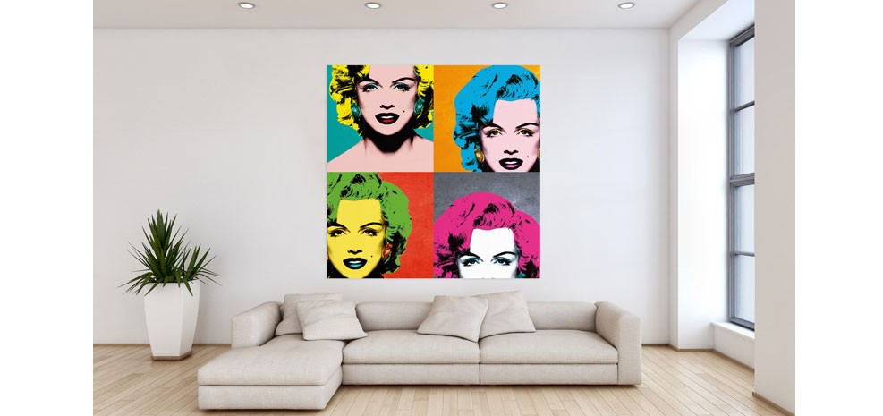 cadre pop art marilyn monroe. Black Bedroom Furniture Sets. Home Design Ideas