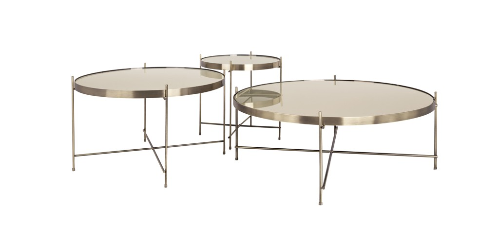 Table basse ronde valdo or s achetez nos tables basses for 3 tables basses rondes