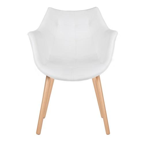 acheter chaise blanche design pieds bois