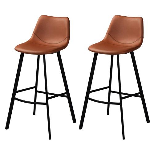 acheter chaise de bar lot de 2 marron