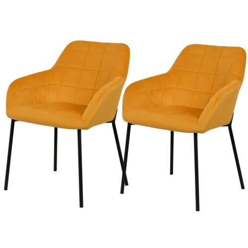 acheter chaise jaune lot de 2