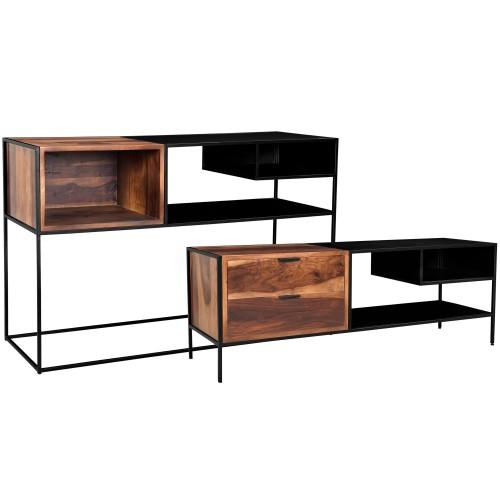 acheter console et meuble tv bois metal