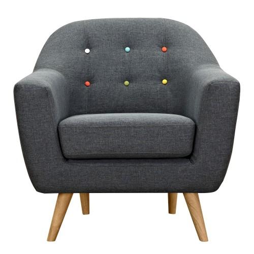 Fauteuil Rio gris foncé : achetez nos fauteuils Rio gris foncé-RDV Déco