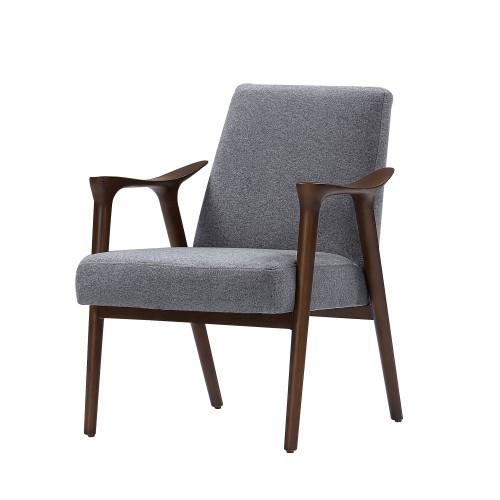 acheter fauteuil vintage accoudoirs bois fonces