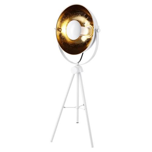 acheter lampe a poser sur trepied blanc